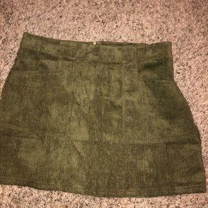 Never worn olive high waisted skirt